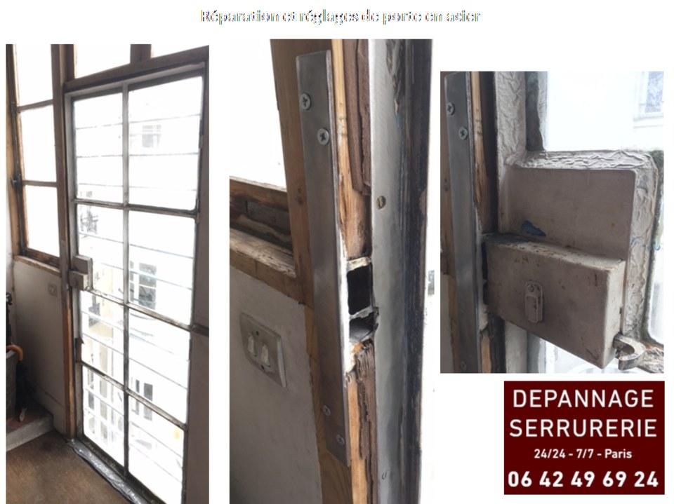 Réparation et Réglages de porte en acier et verre