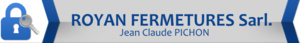 Logo serrurier Royan fermetures sarl